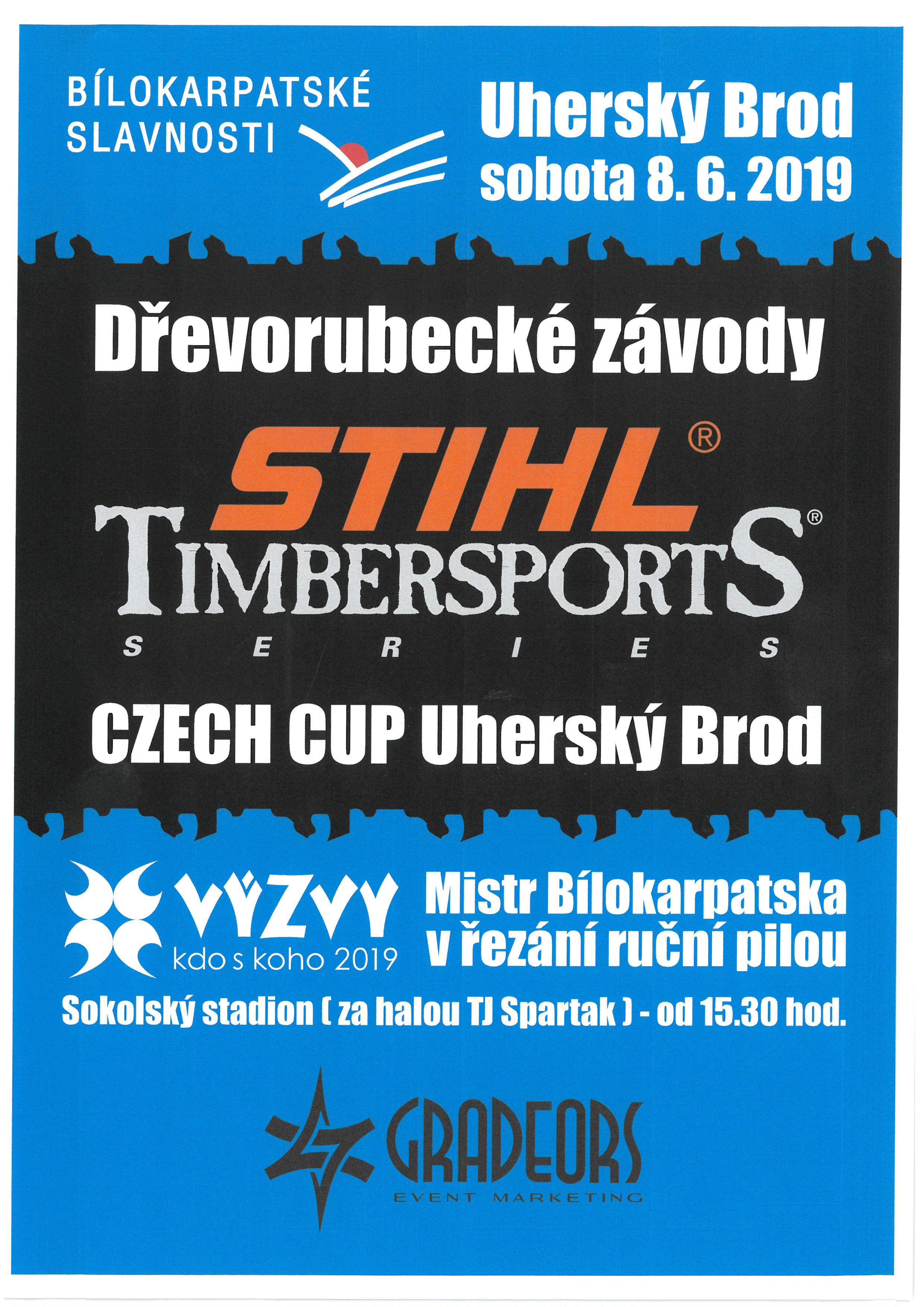 BÍLOKARPATSKÉ SLAVNOSTI - Dřevorubecké závody - plakát