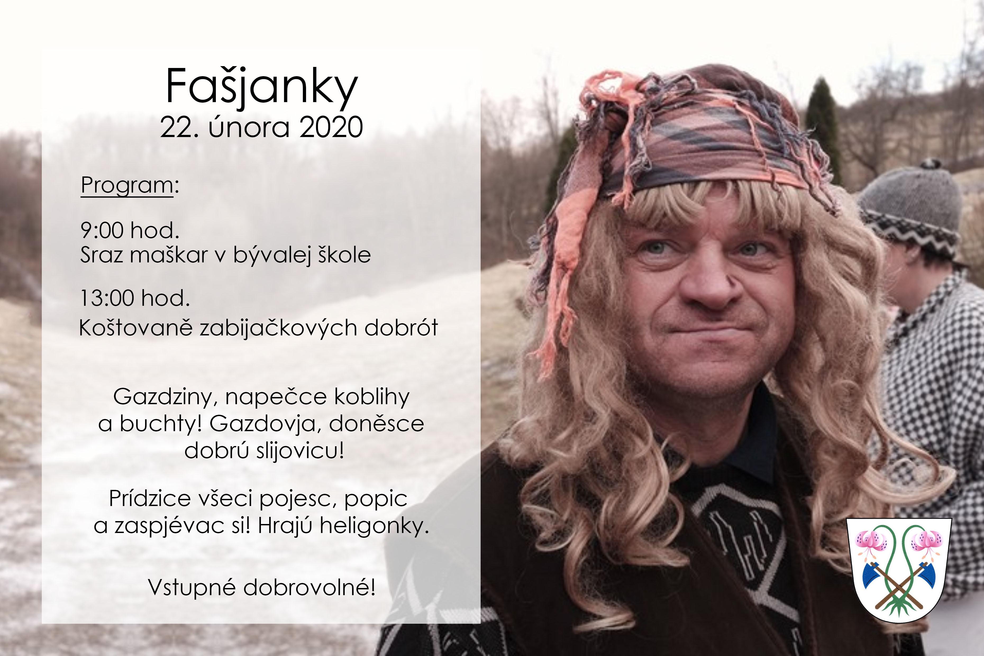 Plakát Fašjanky 2020
