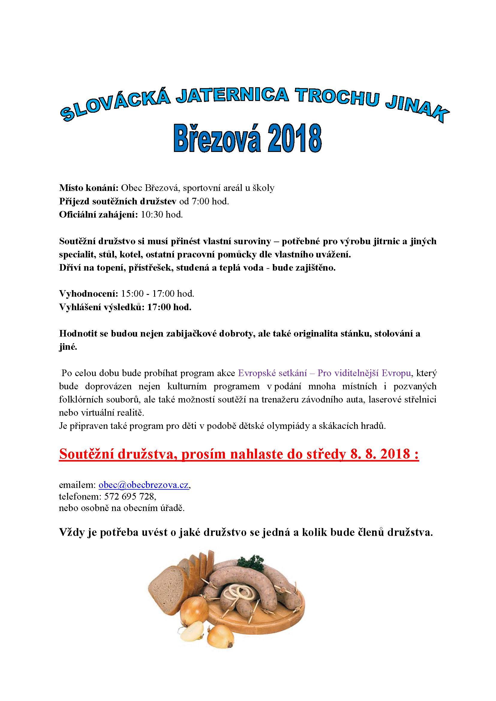 Slovácká jaternica 2018